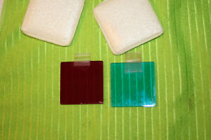 Microscope Square Filters 51 7mm Read And Blue
