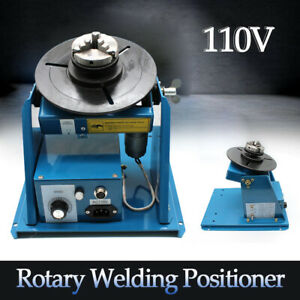 Rotary Welding Positioner Turntable Table 2 5 3 Jaw Lathe Chuck 2 10r min 110v