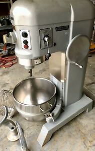 Hobart 60qt Mixer H 600t 60 Quart Bakery Pizza Dough Hook Bowl Paddle 3ph Wired