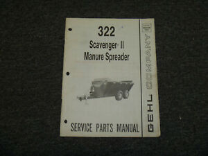 Gehl Ms322 Scavenger Ll Manure Spreader Parts Catalog Manual 904109