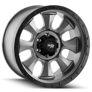 4 Cali Off Road 9300 Ironman 18x9 8x170 0mm Gunmetal Black Wheels Rims 18 Inch