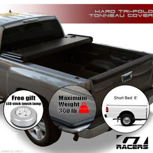 For 1983 2011 Ford Ranger Mazda B Series 6 Ft Bed Tri Fold Hard Tonneau Cover Jr