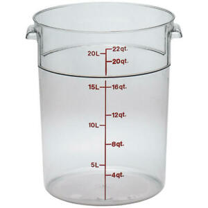 Cambro 22 Qt Camwear Round Food Storage Containers 6pk Clear Rfscw22 135