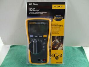 New Fluke 110 Plus True Rms Digital Meter 600 volt Multimeter Test Meter