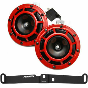 Hella Supertone 12v High Low Tone Twin Horn Kit For 2015 Subaru Wrx Sti Red