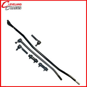 6 Pc Steering Kit Ford F350 85 97 Center Link Tie Rod Ends Sleeves F 350 4wd