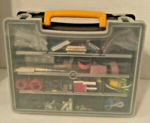 Lot Of Mixed Electronic Components Parts With 2 Sided Storage Case