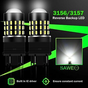 2x Sawe 3156 3157 Led Reverse Backup Light Bulb Super Bright White For Chevy