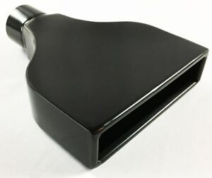 Exhaust Tip 7 75 X 2 25 Outlet 10 00 Long 2 25 Inlet Rolled Rectangle Black S