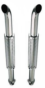 Truck Exhaust Stacks 3 00 Dia X 50 Long 3 00 Flanged Inlet Chrome Plated W300