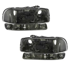 Bumper Lights Headlights Fit 2000 2006 Gmc Yukon Yukon Xl Models Replacement