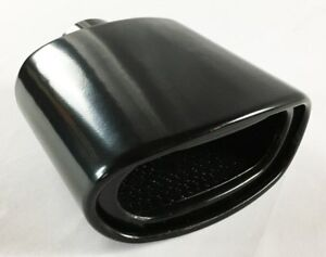 Exhaust Tip 2 25 Inlet 5 50 X 3 00 High 7 00 Lg Double Wall Rolled Oval Reson