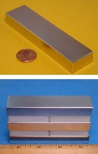 Lot Of 5 Neodymium 4x1x1 2 Thick Earth Magnet Block N52 Strong