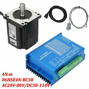 Closed Loop Stepper Motor 4n m Hybrid Servo Driver Kits 86hse4n bc38 200w