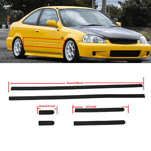 Thin Body Side Door Protective Moldings Panel Molding For Civic 96 00 2dr