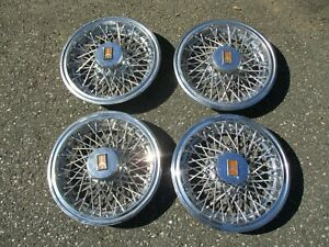 1978 To 1987 Oldsmobile Cutlass 14 Inch Wire Spoke Hubcaps Wheel Covers Beaters