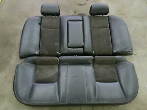 04 07 Cadillac Cts V Back Seat Cushions Oem Black Leather Suede Rear Ctsv