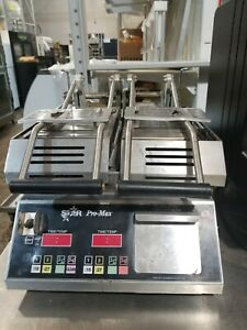Star Maxx Panini Grill Grooved Top And Bottom Model Cg14sptk 1 120 Volts