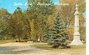 HASTINGS MICHIGAN TYDEN PARK MONUMENT MICH H* $1.00