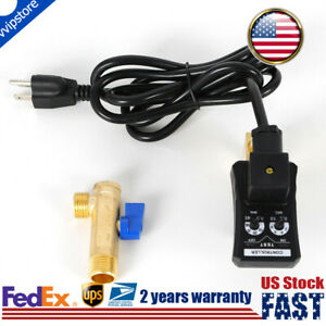 1 2 Auto Drain Valve Electronic Timed 2 Way Air Compressor Tank W power Cable