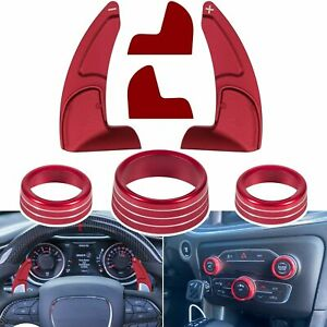 Air Conditioning Button Cover Steering Wheel Shift Paddle For 2015 2020 Dodge