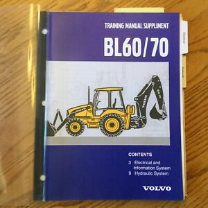 Volvo Bl60 70 Bhl Service Training Repair Manual Tractor Backhoe Electrical hyd