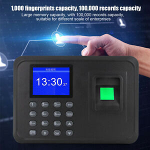 Time Attendance Machine Clock Recorder Employee Checking in Fingerprint