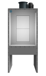 New 3 Wide Bench Spray Booth 1 Hp 1 Phase Made In Usa