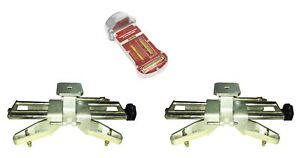 Camber Caster Gauge With 2 Wheel Alignment Rack Rim Clamp Mount 11 25 Rims
