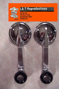 1955 56 57 Chevy Door Handles Window Crank Chrome Belair Sedan Hardtop Nomad New