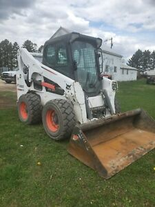 2014 Bobcat S750 Skid Loader Cab Heat Ac Power Bobtach 2 Speed In Mn
