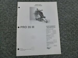 Target Pro 35 Iii Walk behind Self propelled Concrete Saw Parts Catalog Manual