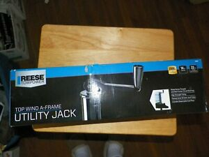 Reese Towpower 74407 Top Wind A Frame Utility Trailer Jack 2000 Lb Lifting 14