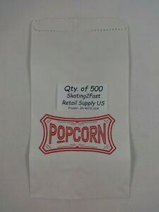 500 Qty 1 5 Oz Popcorn Paper Snack Sacks Bags Concession Supplies 5 5 X 9 5