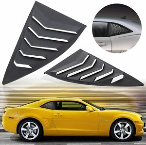 2pcs Matte Black Side Window Louvers Sun Shade Cover For Chevy Camaro 2010 2015