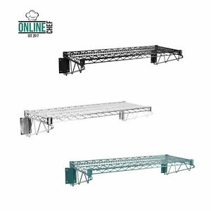 14 X 36 Wall Mounted Epoxy Metal Wire Shelf Rack Commercial Restaurant Pot