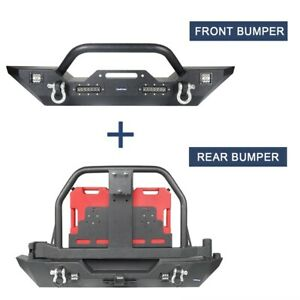 Hooke Road Front Bumper Or Rear Bumper W Tire Carrier For 07 18 Jeep Wrangler Jk