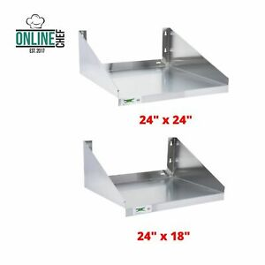 Stainless Steel Microwave Shelf Silver 18 Gauge Nsf Solid Storage Kitchen Silver