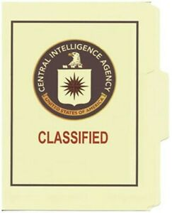 Cia Classified File Folder 5 pack
