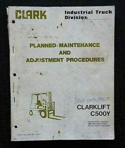 Clark C500 Y 40 45 50 55 S60 Forklift Lift Truck Maintenance Manual Good Shape