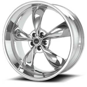 18x8 American Racing Torq Thrust M 5x114 3 Et0 Chrome Wheels Set Of 4