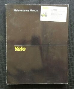 Yale Nr Ndr Ns Stand up Reach Truck Forklift Maintenance Manual 200 Pgs