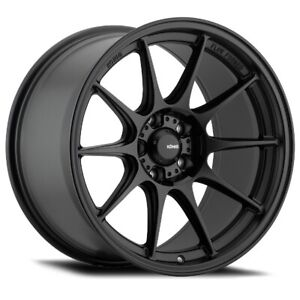 19x9 5a Konig Dekagram 5x114 3 35 Semi Matte Black Wheels Set Of 4