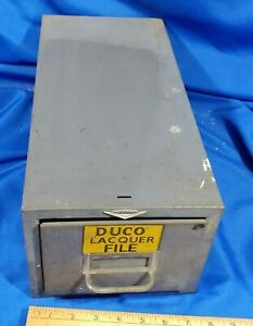 Dupont Duco Lacquer Car Paint Cole Steel File Cabinet 1 Drawer Metal Card