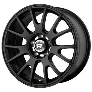 4 motegi Mr118 17x8 5x120 45mm Matte Black Wheels Rims 17 Inch
