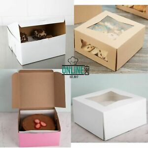 8 X 8 X 4 Square Paperboard Cake Bakery Box One Construction 150 bundle
