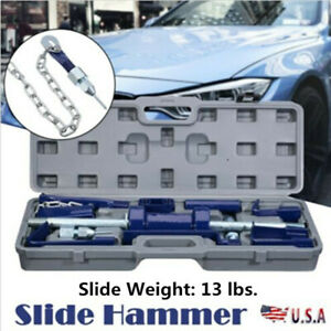 Slide Hammer Dent Puller 13lbs Auto Body Dent Repair Bearing A xel Remover Set