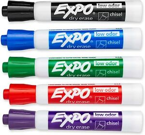 Expo Low Odor Dry Erase Markers Chisel Tip Assorted 36 Count Free Shipping