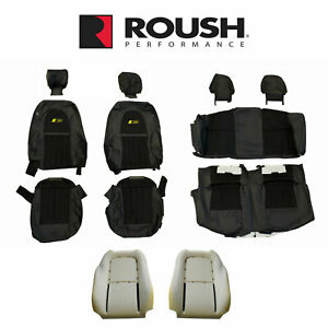 2012 2014 Mustang Convertible Roush Rs3 Front Rear Seat Upholstery Black Yellow