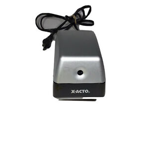 Xacto Electric Pencil Sharpener Model 19xx Cn Silver And Black Tested And Works